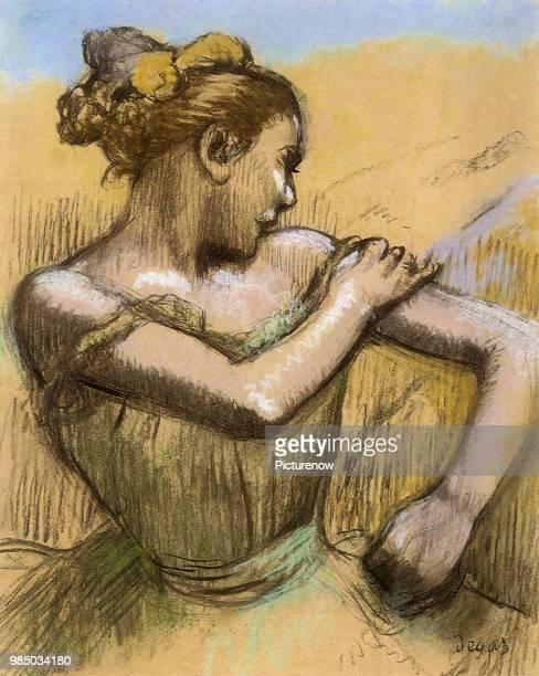 Ballerina Fixes Costume Degas Edgar