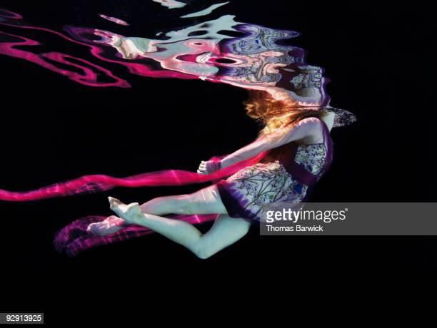 Ballerina floating through water