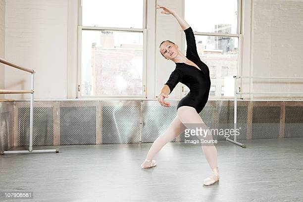 ballerina in pose - leotard stock pictures, royalty-free photos & images
