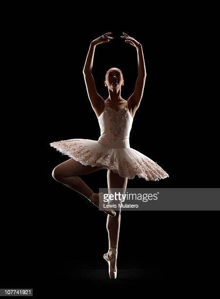Ballerina in Releve pose