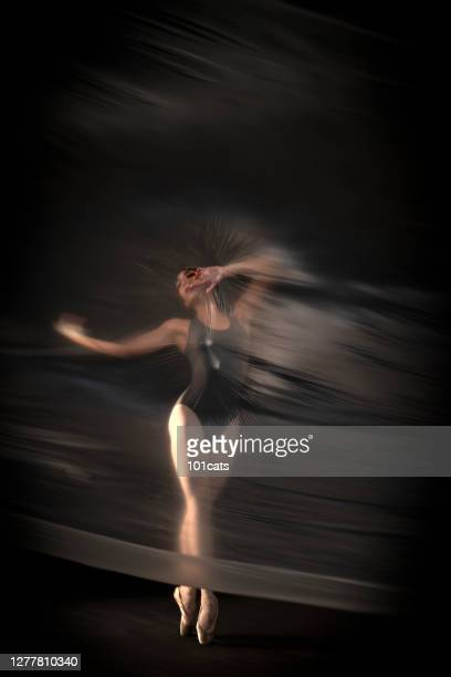 ballerina is dancing thin nylon - nylon feet stock pictures, royalty-free photos & images