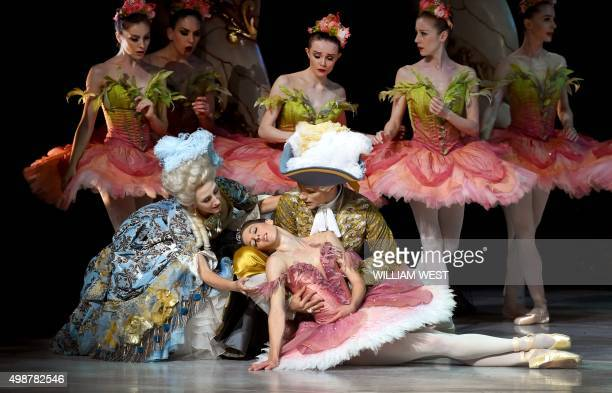 Ballerina Lana Jones dances the part of Princess Aurora during a dress rehearsal for the Australian Ballet's production of The Sleeping Beauty at the...