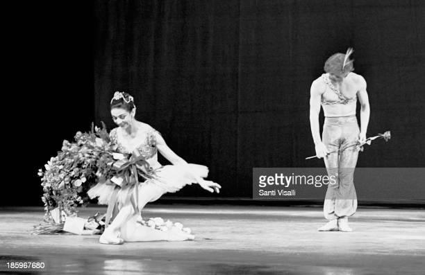 Ballerina Margot Fonteyn on stage with Rudolf Nureyev on May 231969 in New York New York