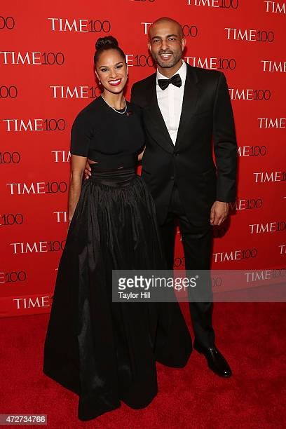 Ballerina Misty Copeland and boyfriend Olu Evans attend the 2015 Time 100 Gala at Frederick P Rose Hall Jazz at Lincoln Center on April 21 2015 in...