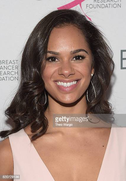 Ballerina Misty Copeland walks the red carpet at the Breast Cancer Research Foundation's Hot Pink Party at the Waldorf Astoria Hotel on April 12 2016...