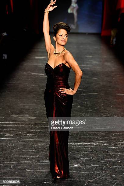 Ballerina Misty Copeland walks the runway at The American Heart Association's Go Red For Women Red Dress Collection 2016 Presented By Macy's at The...