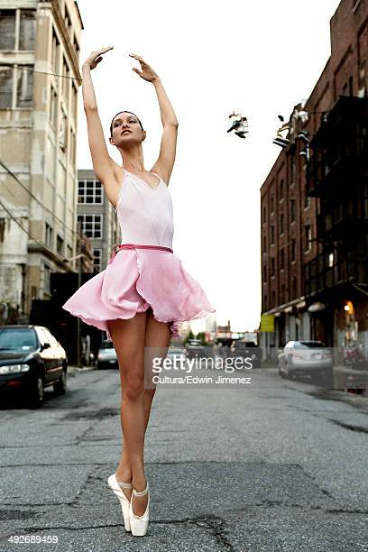 Ballerina on an urban street