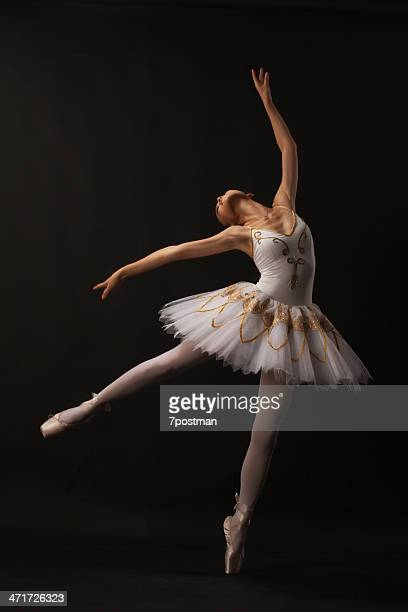 ballerina on black - classical stock pictures, royalty-free photos & images