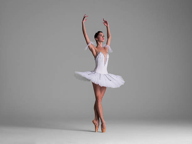 ballerina on point in Releve? Fifth Position