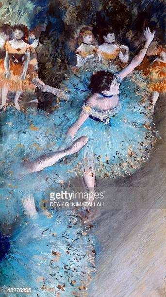 Ballerina on pointe 18771879 by Edgar Degas pastel and watercolor on paper 64x36 cm Madrid Museo ThyssenBornemisza