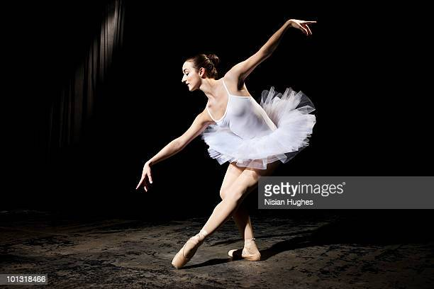 ballerina on stage - ballet dancer stock pictures, royalty-free photos & images