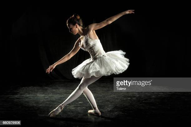 Ballerina on stage