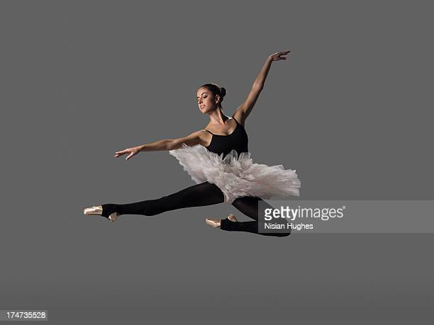 Ballerina performing pas de chat