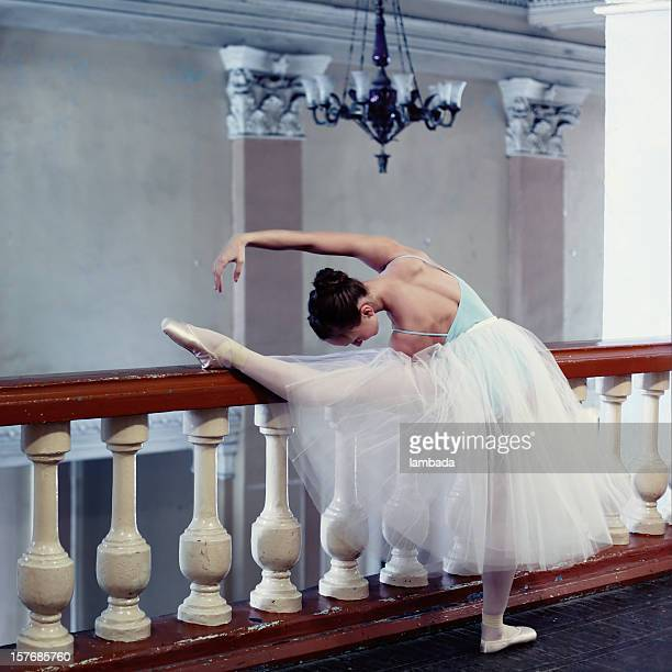 ballerina - bending over in skirt stock pictures, royalty-free photos & images