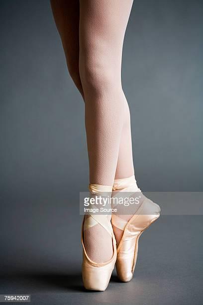 ballerina - ballerina feet stock photos and pictures