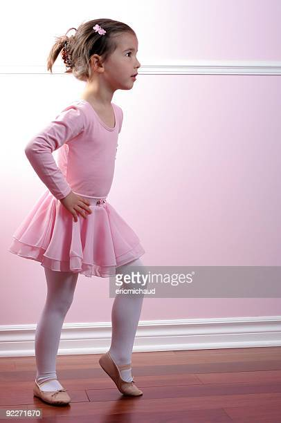 ballerina - little girls in tights stock photos and pictures