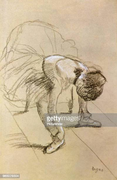 Ballerina Stretching Degas Edgar