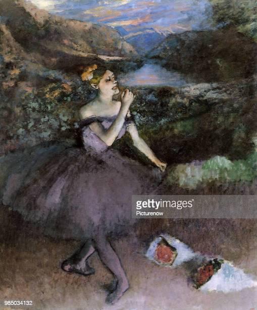Ballerina Takes a Bow Degas Edgar