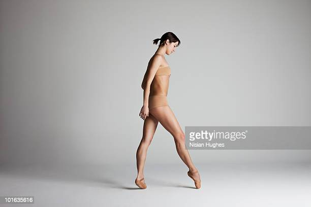 ballerina taking step