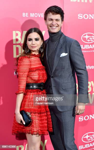 Ballerina Violetta Komyshan and Ansel Elgort arrive at the Premiere of Sony Pictures' Baby Driver at Ace Hotel on June 14 2017 in Los Angeles...