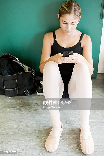 Ballerina with cellphone