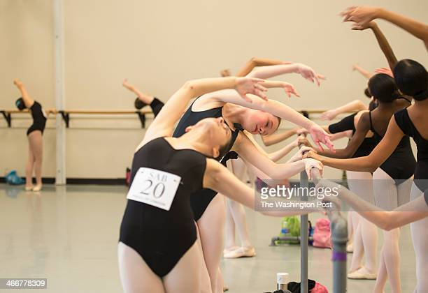 Ballerinas between the ages of 12 and 13 years old audition for a spot on the coveted School of American Ballet's 2014 Summer Courses at Maryland...