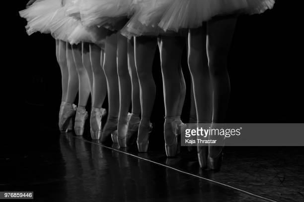 ballerinas dancing, reykjavk, iceland - ballet dancing stock pictures, royalty-free photos & images