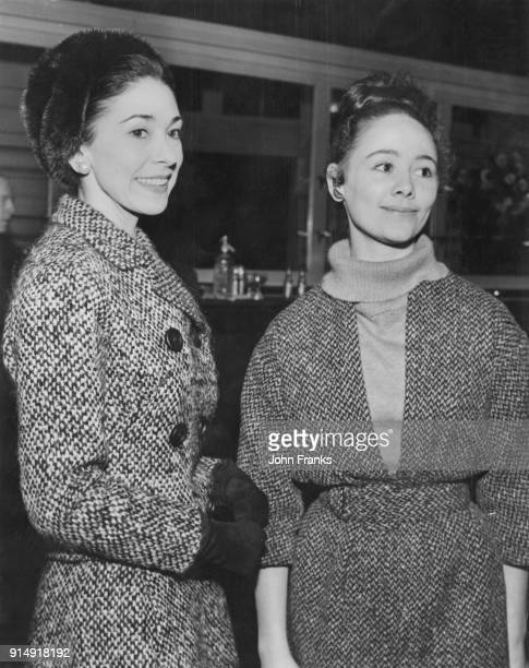 Ballerinas Margot Fonteyn and Robin Haig of the Royal Ballet attend a reception at the Royal Opera House in Covent Garden London for the eight...