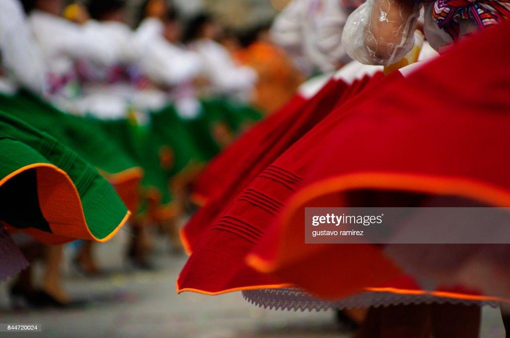 ballerinas of carnival in peru : Stock Photo