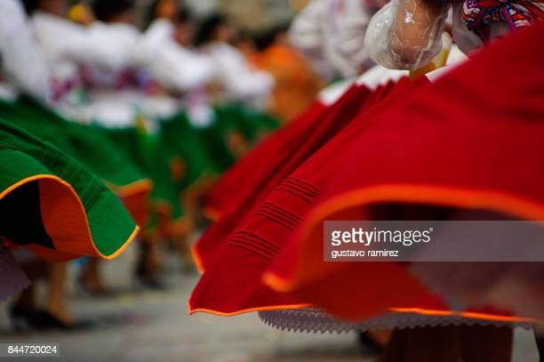 ballerinas of carnival in peru