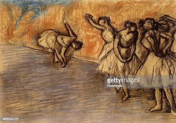 Ballerinas Stretching Degas Edgar