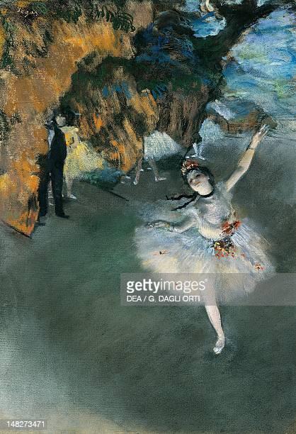 Ballet 187677 by Edgar Degas pastel on paper Paris Musée D'Orsay