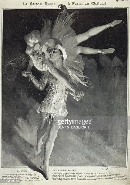 Ballet 20th century Tamara Platonovna Karsavina and Waslaw Nijinsky performing 'The Firebird' by Stravinsky