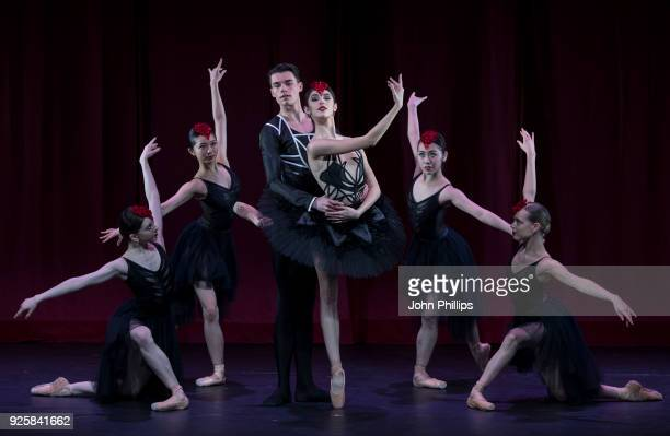Ballet Central dancers Lita Flores Garcia and Saul Kilcullen Jarvis along side Ayca Anil Hikari Uemura Heidi Richards and Natsuki Ota pose during a...