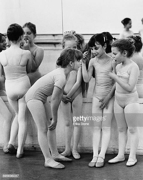 A ballet class for young girls in New York City circa 1980