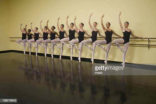 ballet class - barre stock photos and pictures