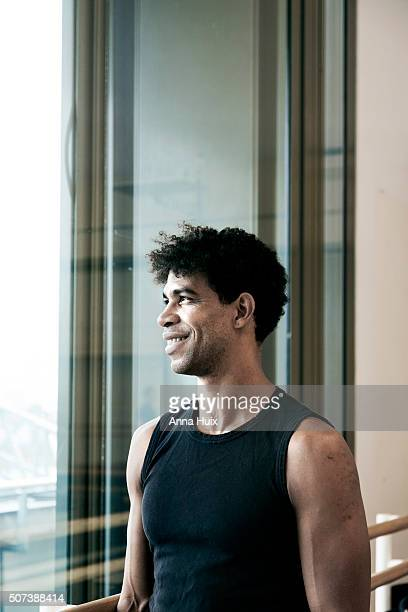 Ballet dancer Carlos Acosta is photographed for the Telegraph on October 7 2015 in London England