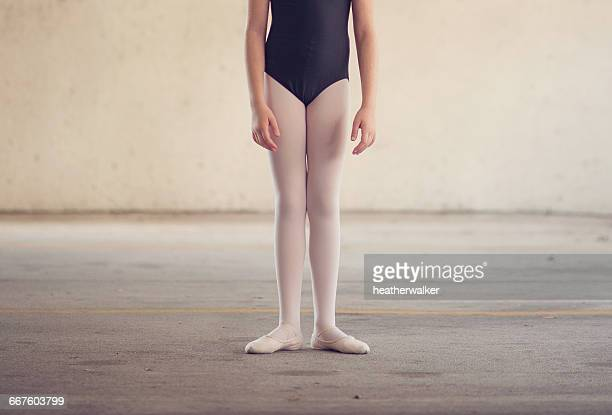 Ballet dancer Girl standing in first position