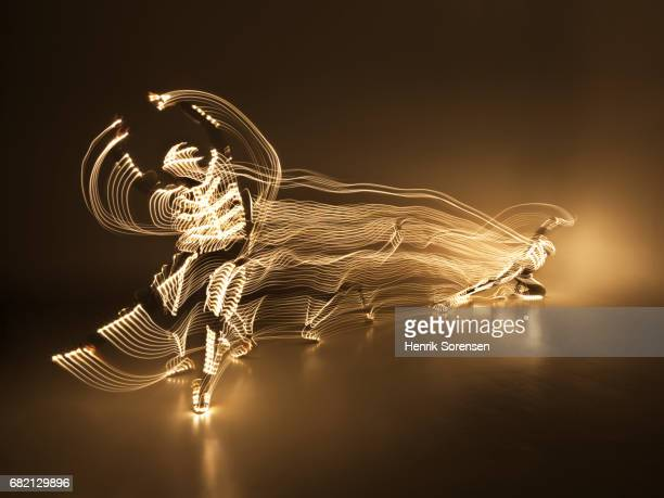 ballet dancer in a lightsuit - long exposure stock pictures, royalty-free photos & images