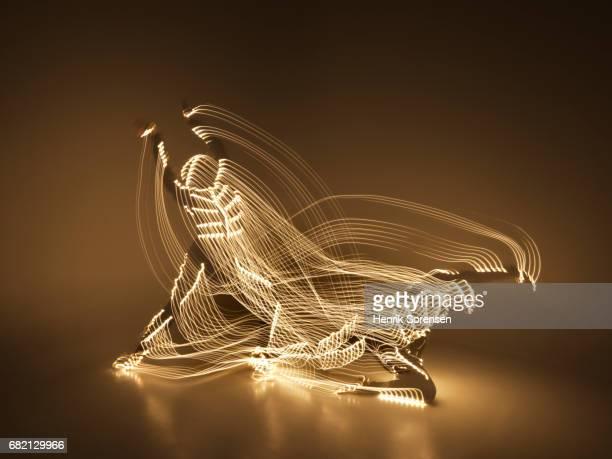 Ballet dancer in a lightsuit