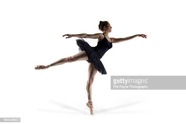 ballet dancer in leotard and tutu - ballet dancer stock pictures, royalty-free photos & images