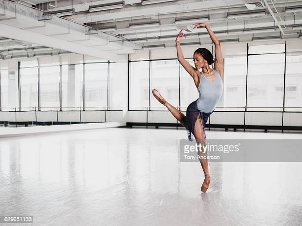 ballet dancer in rehearsal studio - ballet stock pictures, royalty-free photos & images