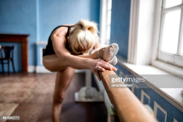 ballet dancer in the dance studio - rehearsal stock pictures, royalty-free photos & images