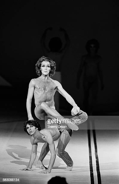 Ballet dancer Jorge Donn performs in Messe pour le Temps Futur by Maurice Bejart at the Palais des Congres in Paris, France. Translation of the...