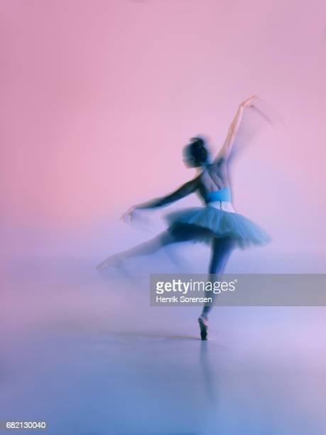 Ballet dancer long exposure