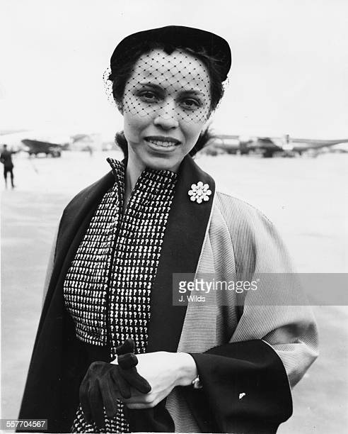 Ballet dancer Maria Tallchief Chief Ballerina with the New York City Ballet Company arriving at London Airport April 8th 1952