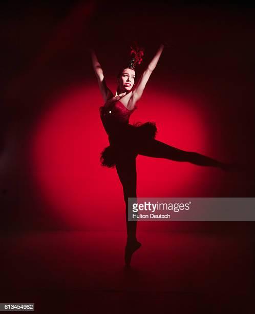 Ballet dancer Maria Tallchief performs in the ballet Firebird