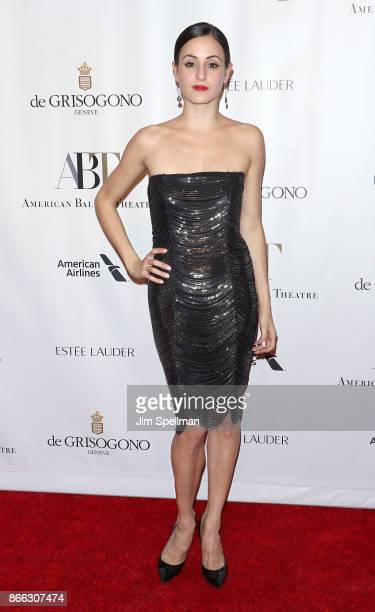 Ballet dancer Melanie Hamrick attends the 2017 American Ballet Theatre Fall gala at David H Koch Theater at Lincoln Center on October 18 2017 in New...