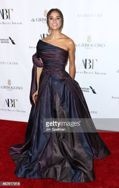 Ballet dancer Misty Copeland attends the 2017 American Ballet Theatre Fall gala at David H Koch Theater at Lincoln Center on October 18 2017 in New...