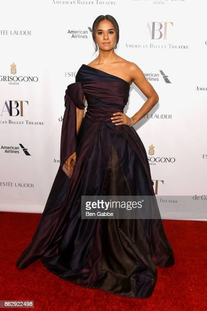 Ballet dancer Misty Copeland attends the American Ballet Theatre Fall Gala at David H Koch Theater at Lincoln Center on October 18 2017 in New York...